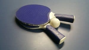 ping pong ball and paddles