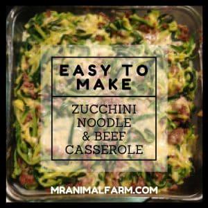 Zucchini Noodle & Beef Casserole