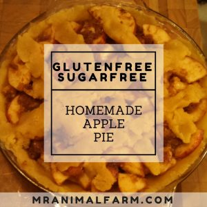Gluten Free, Sugar Free Apple Pie