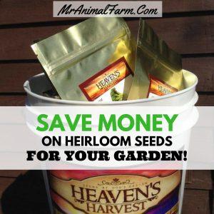 save money on heirloom seeds